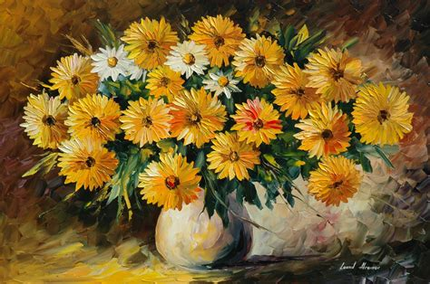 painting flowers vase bouquet wallpaper 2813x1869