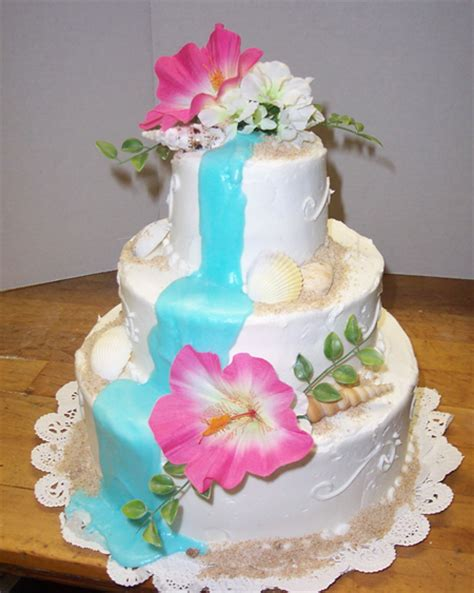 luau wedding cakes pictures the wedding inspirations tropical wedding cakes sles