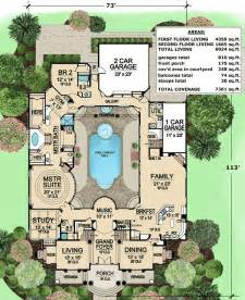 luxury home plans with pools plan 36186tx luxury with central courtyard luxury house