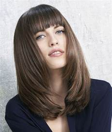 shoulder length hair for heavy a long brown hairstyle from the metropolican collection