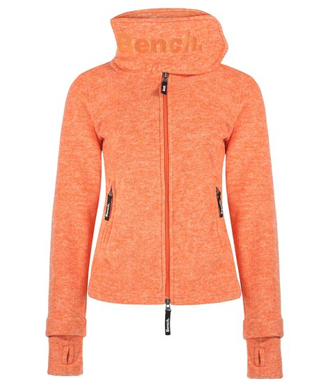 bench funnel h zip up fleece top in orange lyst