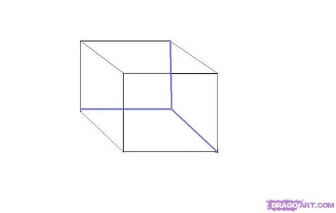 when i doodle i draw boxes how to draw a 3d cube step by step line drawing