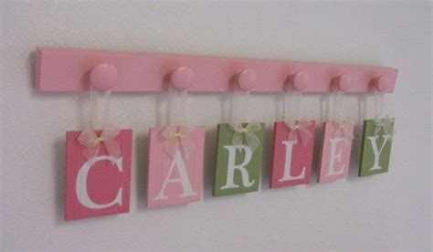 Pink And Green Nursery Decor 7 Best Images About Names On Pinterest Wooden Pegs Boyfriend And Graphics