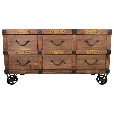 industrial style six drawer cabinet for sale at 1stdibs