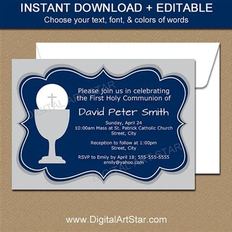 1000 ideas about communion invitations on pinterest