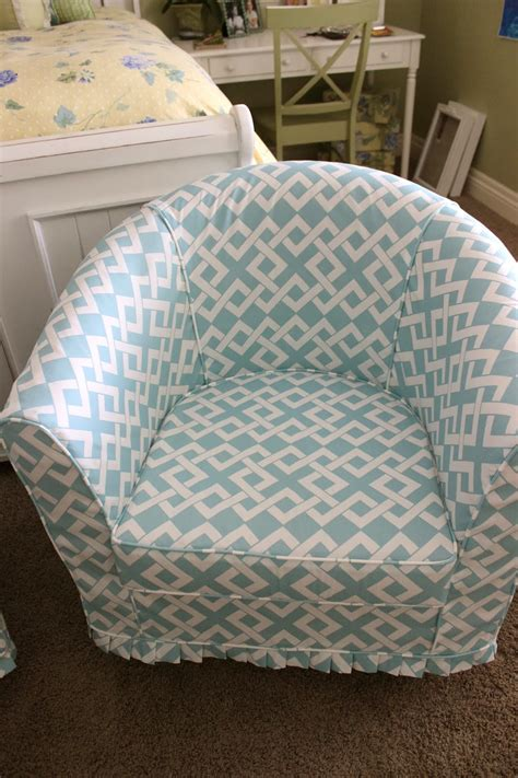 pattern slipcovers simple barrel chair slipcovers homesfeed