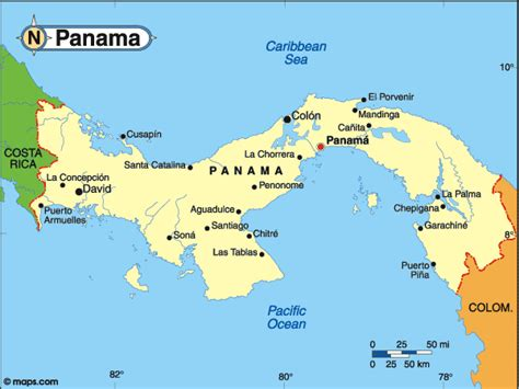map usa panama countrywatch elections central