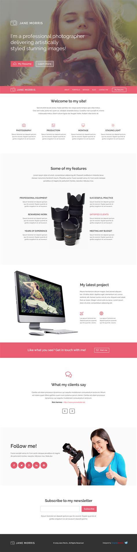 themes wordpress html5 free free html5 responsive wordpress theme for photographers