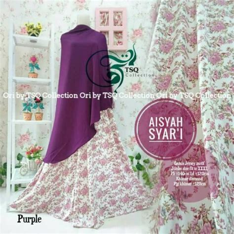 Gamis Murah Gamis Jumbo Makiyya Syari Set Khimar Ori Aiisha Longdress gamis jumbo aisyah syar i baju muslim modern