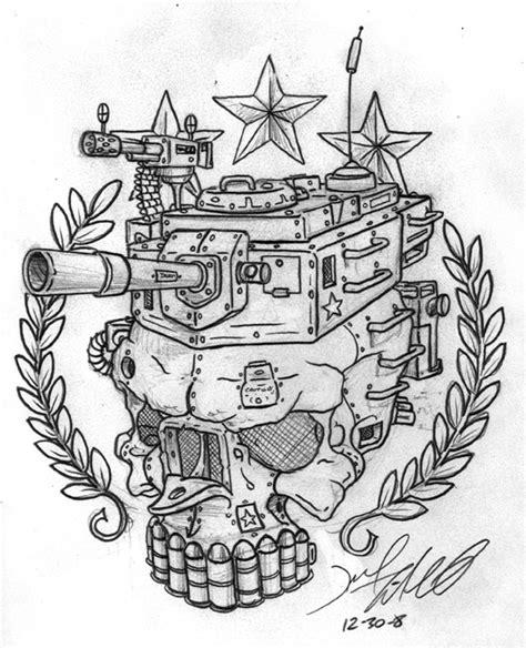 army tank tattoo designs army tank skull sketch tattooshunt
