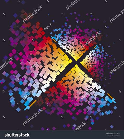 retro vivid square pattern stock vector stock photos bigstock modern colorful pattern color square dynamic stock vector