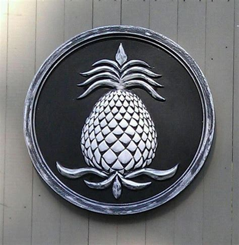 Outdoor Pineapple Decor by Pineapple Garden Plaque Outdoor Decor Boston By