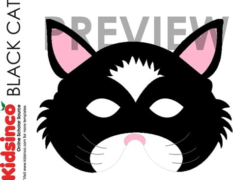 cat mask template animal masks templates k i d s i n co free