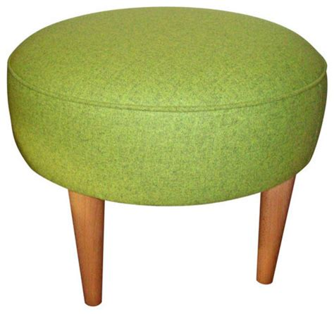 lime green ottoman lime green round wool footstool contemporary