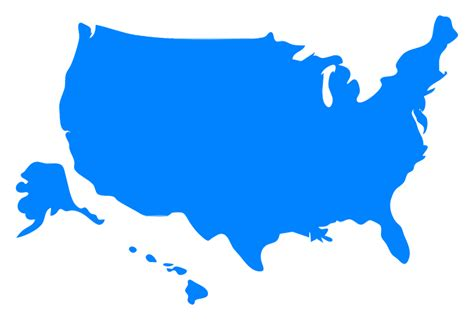america map vector free clipart usa map silhouette