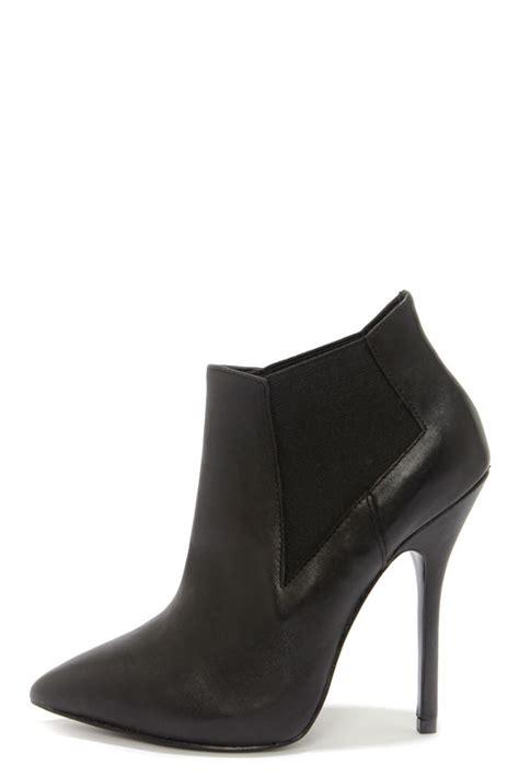 black leather high heel booties black heels leather booties high heel booties