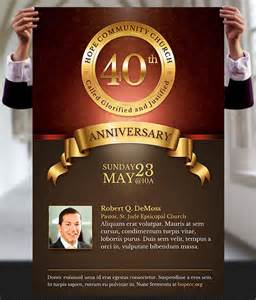 anniversary flyer template free church anniversary flyer and poster template on behance