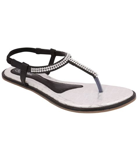 silver sandals for exotique black silver sandals for price in india