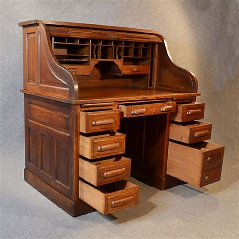 Antique Roll Top Desk Manufacturers by Antique Roll Top Writing Bureau Desk Oak Edwardian Globe