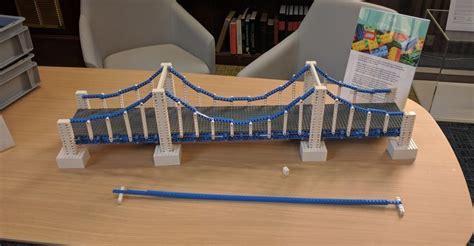 Diy Suspension Bridge 54 Span See The World S Longest Lego Bridge Here In London Londonist