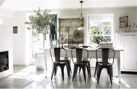 White Farmhouse Table And Chairs by Cafe Chair Eclectic Dining Room J Jones Design