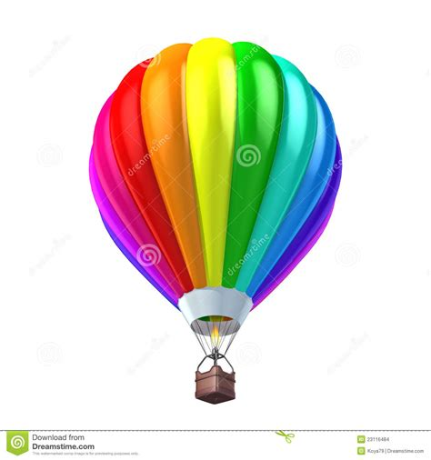illustrator tutorial hot air balloon colorful air balloon 3d illustration stock illustration