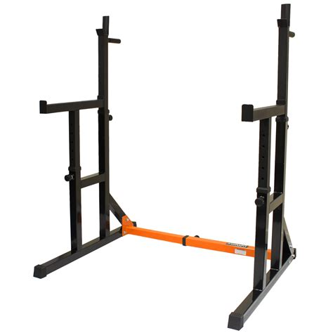 bench power mirafit adjustable squat rack dip stand barbell weight