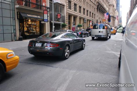 Aston Martin New York by Aston Martin Db9 Spotted In Manhattan New York On 07 21 2012