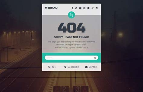 404 page template 40 free html 404 error page website template freshdesignweb