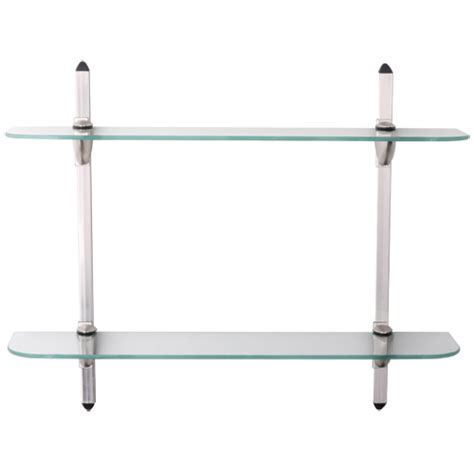 5 x 24 glass display shelf kit in wall mounted shelves