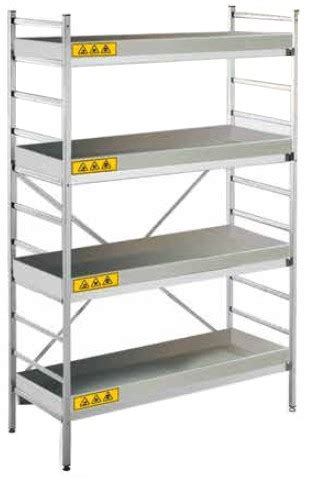 scaffale alluminio chemisafe scaffale in alluminio chemiscaf 120 alkimia srl