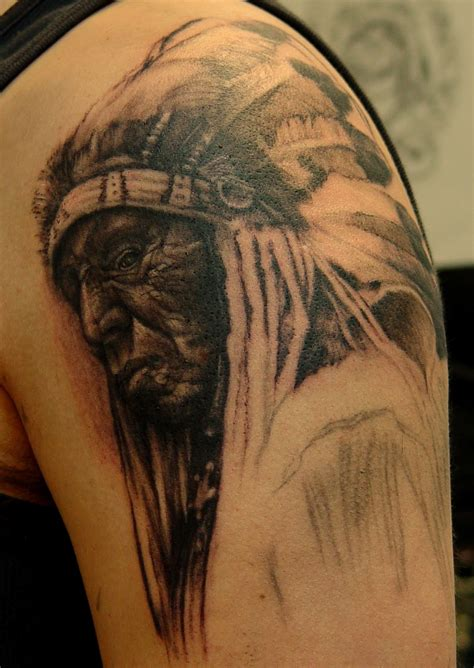 indian chief tattoos indian chief skull meaning indian tattoos on