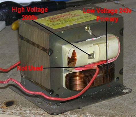 Trafo Microwave Tesla Coil Nsts Mots