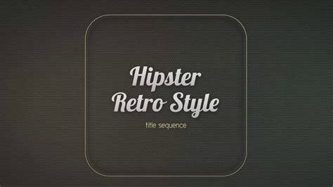 title templates for after effects drifter hipster title sequence after effects template