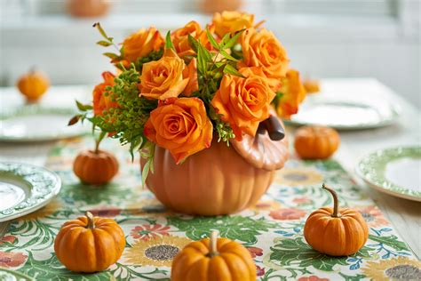 How To Reuse Fall Pumpkin Vases Year After Year Petal Talk Pumpkin With Flowers Centerpieces