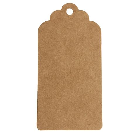 Craft Paper Tags - 100 kraft paper gift tags wedding label baking listed