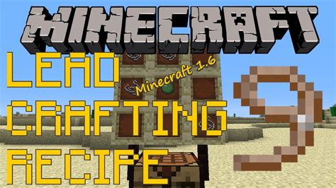 how to a on a lead how to craft use leads minecraft