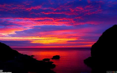 colorful sky landscape wallpaper 44059 open walls