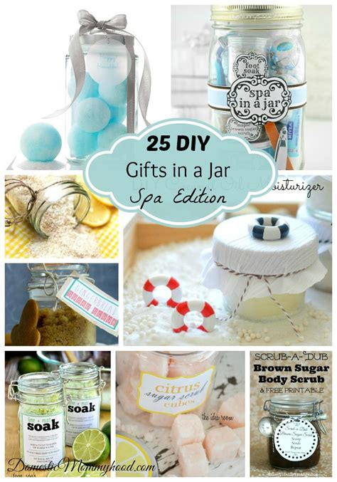 25 diy gifts in a jar spa edition domestic mommyhood