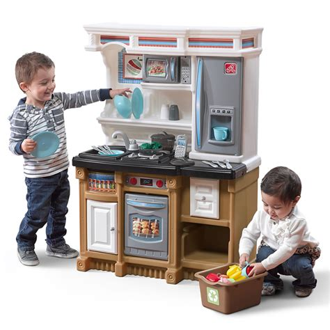 lifestyle custom kitchen kids play kitchen step2