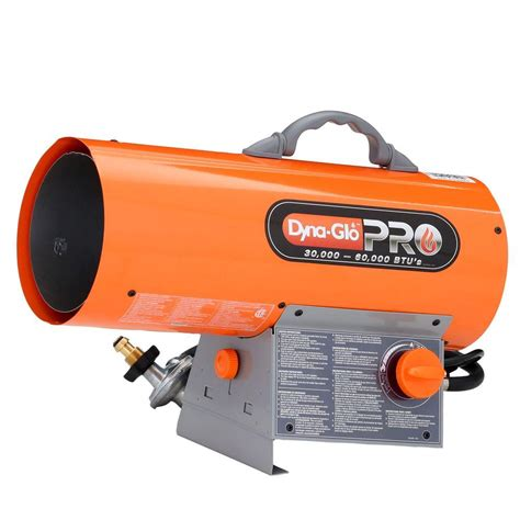 heat l home depot dyna glo pro 60k btu forced air propane portable heater