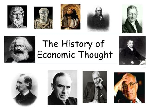 History Of Economic Thought history of economic thought