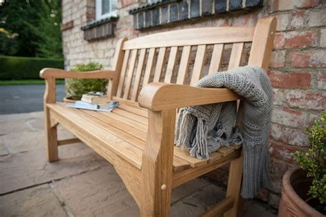 oak garden benches uk heritage oak 4ft garden bench 2 seater 163 309 garden4less uk shop