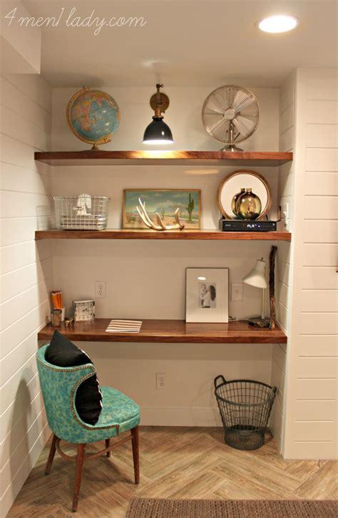 basement built in shelves basement family room reveal