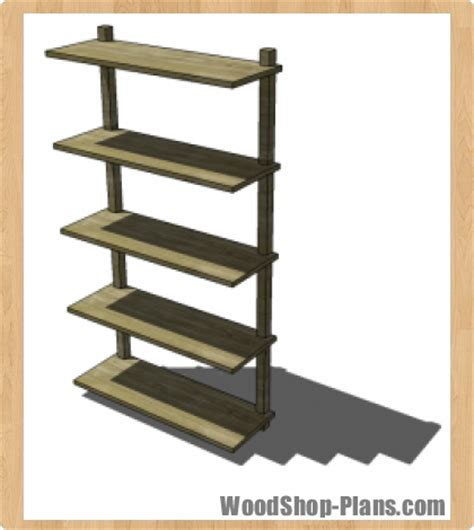 wall mounted bookcase woodworking plans woodshop plans