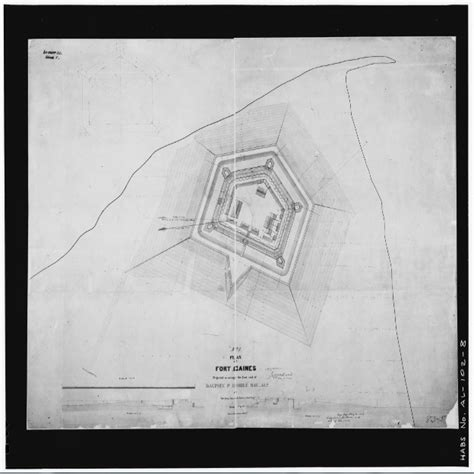 gaines construction fort gaines construction plan as completed in 1862