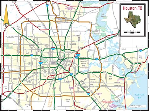 houston texas road map houston texas map