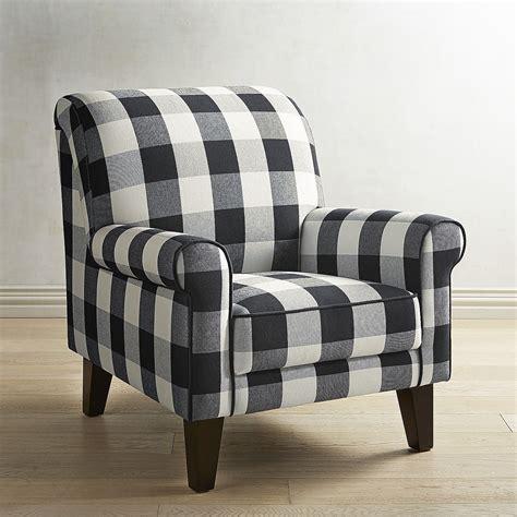 black and white check armchair lyndee buffalo check black chair