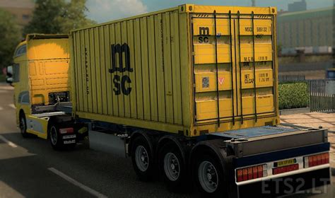 msc uffici msc container trailer ets 2 mods