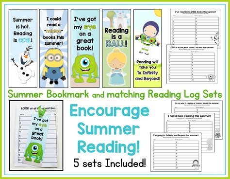 printable end of year bookmarks end of year freebie summer bookmark and matching reading